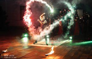 цветной огонь фаер шоу